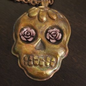 Handmade Day of the Dead necklace